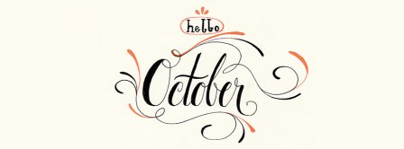 Hello October Handwriting Facebook Covers