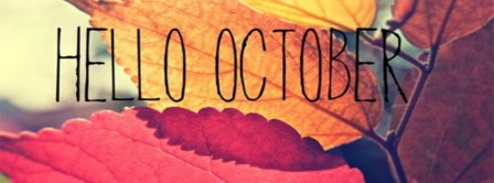 Hello October Leaves Facebook Covers