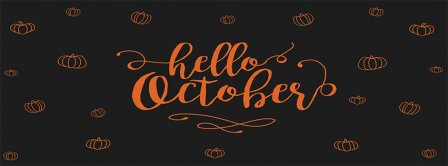 Hello October Pumpkins Facebook Covers