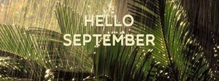 Hello September Forest Rain Facebook Covers