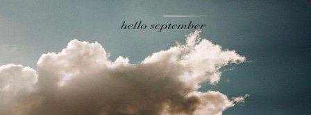 Hello September Sky And Clouds Facebook Covers