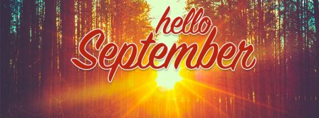Hello September Sunset Facebook Covers