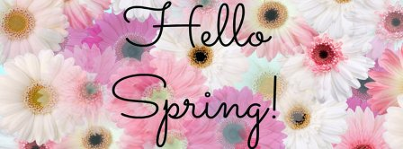 Hello Spring Facebook Covers