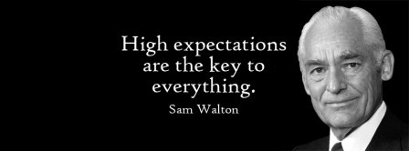 High Expectations Are Key Quote Facebook Covers
