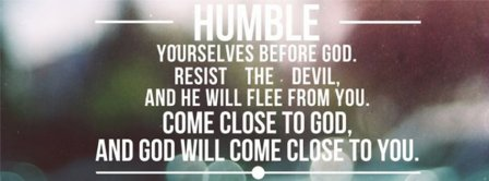 Humble Yourselves Before God  Facebook Covers