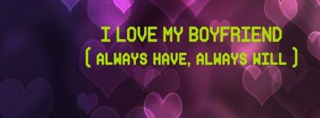 I Love My Boyfriend Facebook Covers