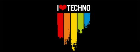 I Love Techno Music Facebook Covers