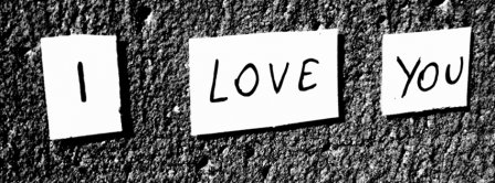 I Love You Black And White Writing Facebook Covers