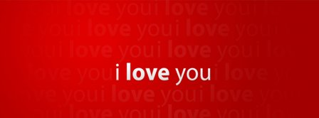 I Love You Red Background Facebook Covers