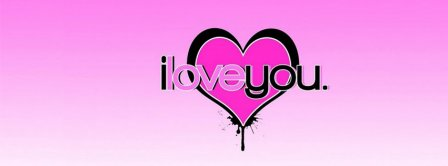 I Love You Pink Background Facebook Covers