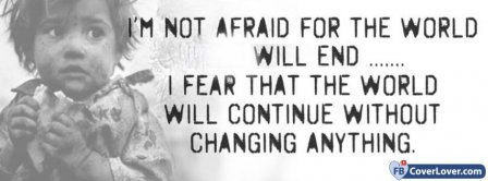 I Am Not Afraid Facebook Covers