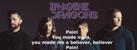 Imagine Dragon Believer Lyrics Facebook Covers