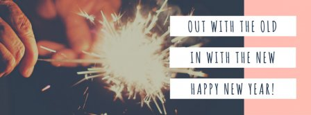 In With The New Happy New Year Facebook Covers