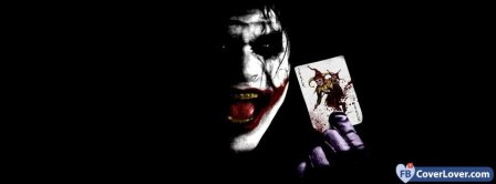 Joker With Card  Facebook Covers