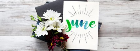 June Flowers Bouquet Facebook Covers