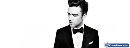 Justin Timberlake In Suit And Bowtie Facebook Covers
