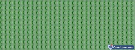 Green Leggo Pattern Facebook Covers