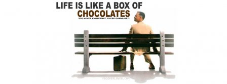 Life Is Like Forrest Gump Facebook Covers