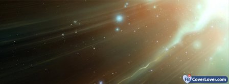 Light Glare Streaking Through Space Facebook Covers