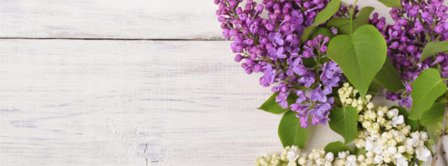 Lilac Bouquet One Wood Facebook Covers
