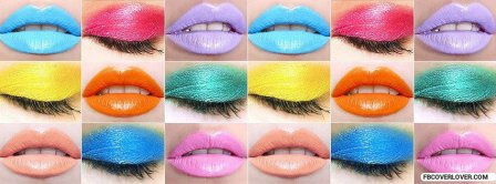 Colorful Lips And Eyelids Facebook Covers