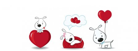 Lovable Valentines Day Puppies Facebook Covers