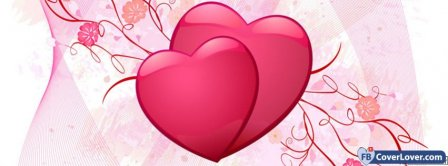 Love Pink Hearts  Facebook Covers