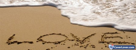Love Written In The Sand Facebook Covers