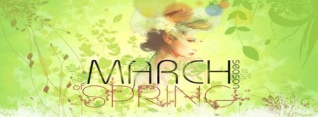 March Spring Season Facebook Covers