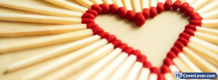Matchsticks Heart Shaped  Facebook Covers