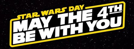 May The 4th Be With You Blask Stars Facebook Covers