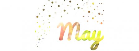 May Colorful Letters Facebook Covers