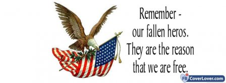Remember Our Fallen Heros Facebook Covers