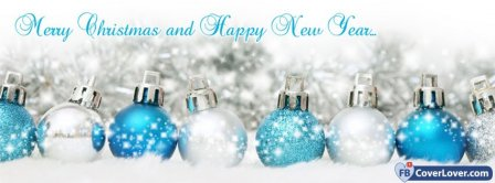 Merry Christmas And Happy New Year 1  Facebook Covers