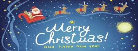 Merry Christmas And Happy New Year Facebook Covers