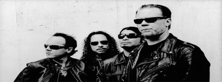 Black And White Metallica Facebook Covers
