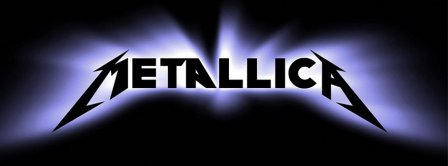 Metallica Blue Light Logo Facebook Covers
