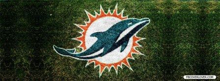 Miami Dolphins Grass Logo Facebook Covers