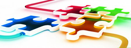 Mixed Colored Puzzle Pieces Facebook Covers