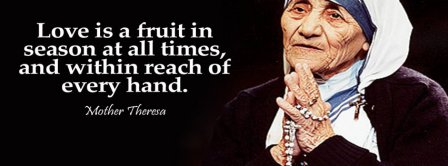 Mother Theresa Love Quote Facebook Covers