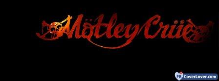 Motley Crue Red Hot Logo Facebook Covers