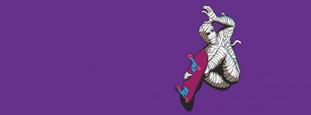 Mummy Riding Skateboard  Facebook Covers