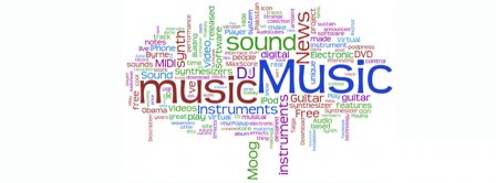 Music Words Cloud Facebook Covers