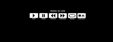 Music Is Life Facebook Covers