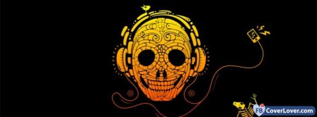 Music Happy Skull Facebook Covers