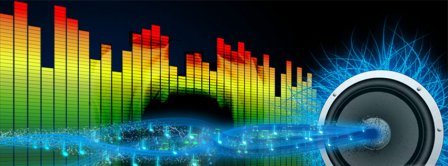 Music Beats And Speaker Frequency Facebook Covers