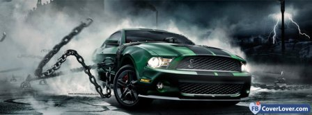 Green Ford Mustang Shelby Facebook Covers
