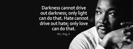 No Hate Only Love M L King Quote Facebook Covers