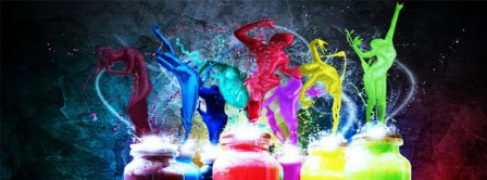 Paint Dancers  Facebook Covers