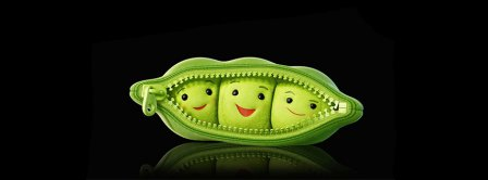 Peas In The Pod Black Background Facebook Covers